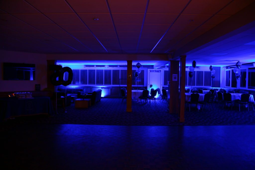 Crews Hill Golf Club, Enfield, Uplighting Dark Blue