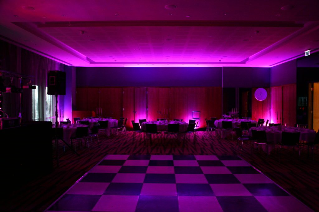 Radisson Edwardian Docklands, Uplighting Pink