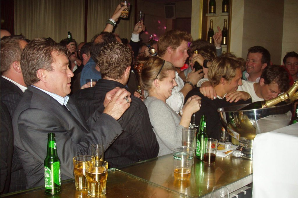 Performing At England Rugby World Cup Squad After Final Party 2007 Paris