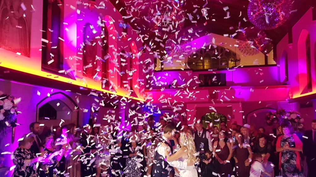 Hanbury Manor, Herts, Wedding First Dance Confetti
