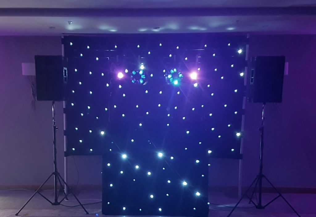 Waltham Abbey Marriott, Essex, Standard Set Up, Black Starlit Booth & Backdrop
