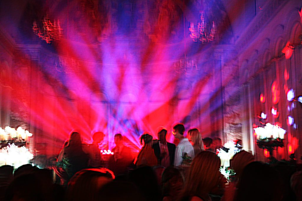 Luton Hoo Hotel, Book Launch, Disco Lights & Uplighting Red