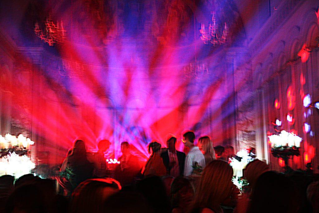 Luton Hoo Hotel, Book Launch, Disco Lights & Uplighting Red
