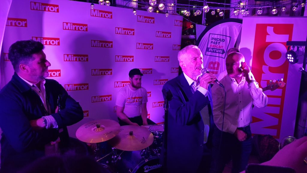 Introducing Jeremy Corbyn At Daily Mirror Sponsored Labour Party Confererence After Party