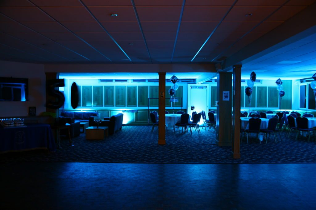 Crews Hill Golf Club, Enfield, Uplighting Light Blue
