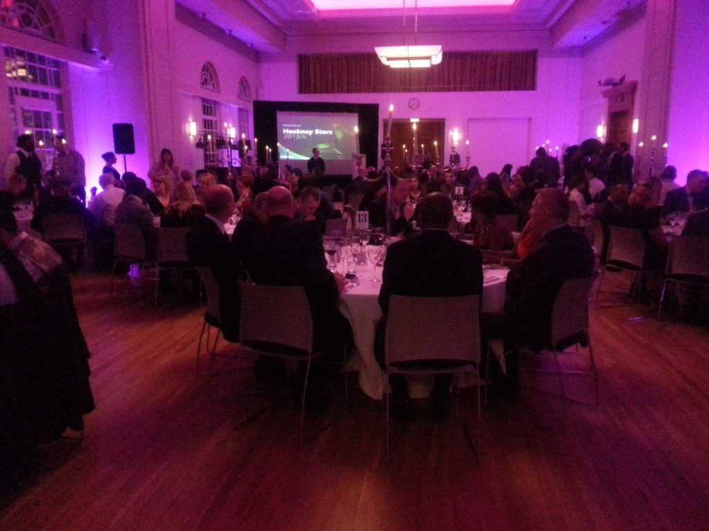 Hackney Town Hall, London, Awards Night, Meal Time