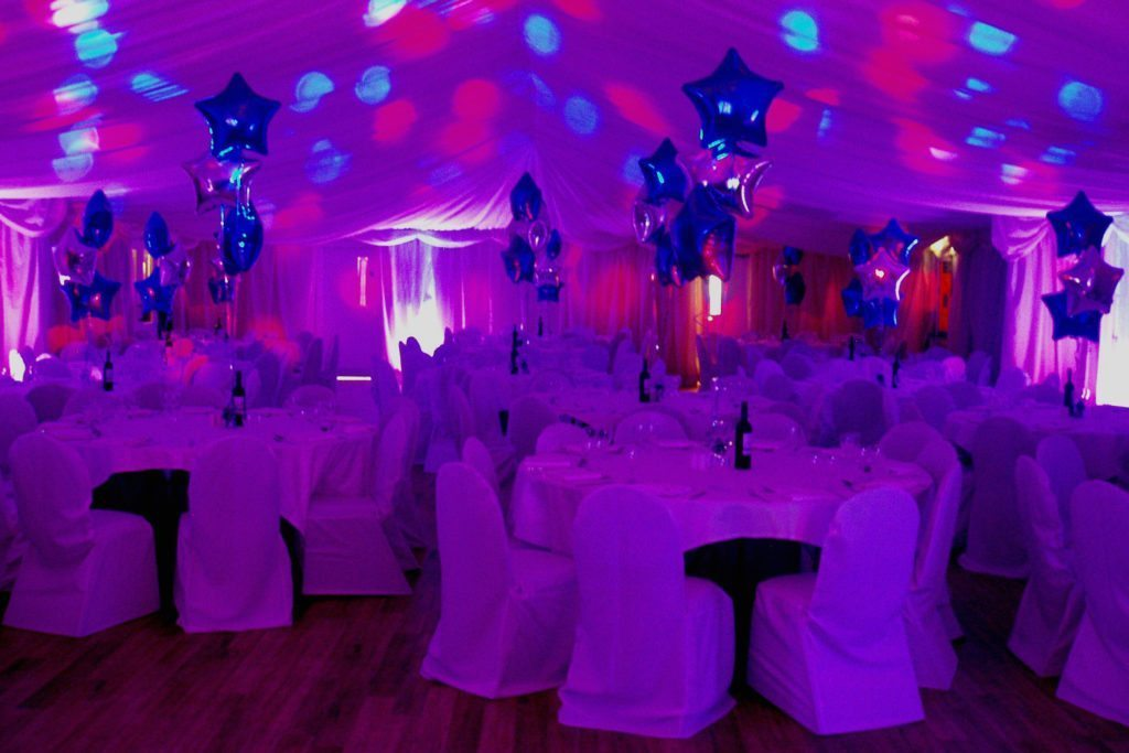 Gilwell Park, Essex, Uplighting Pink