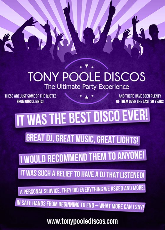 Tony Poole Discos Testimonial - It Was The Best Disco Ever!