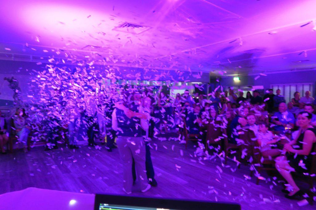 Cheshunt Golf Club, Herts, Wedding First Dance Confetti