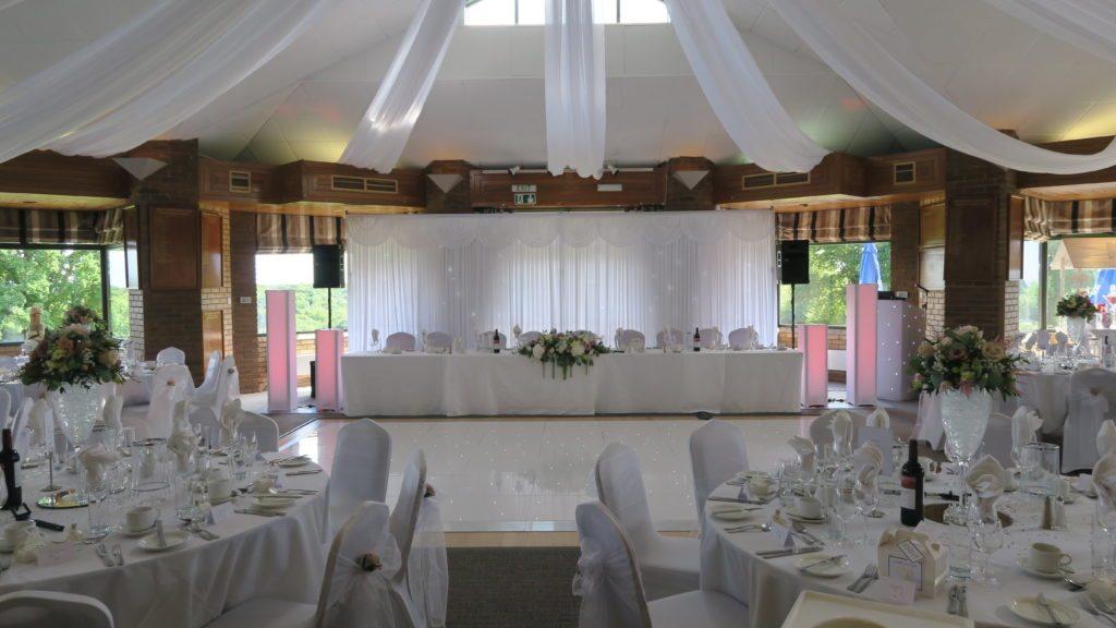 White Starlight Booth, White Starlight Top Table Backdrop, White LED Dance Floor